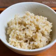 お茶碗に3日目の酵素玄米小豆なし