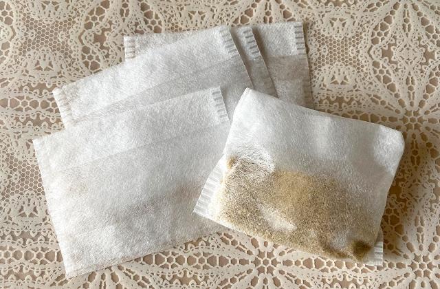 米ぬか入りのお茶パック