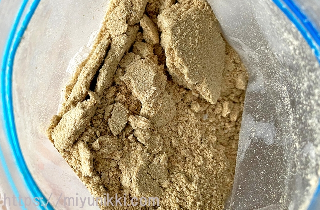 冷凍保存した米ぬかのかたまり