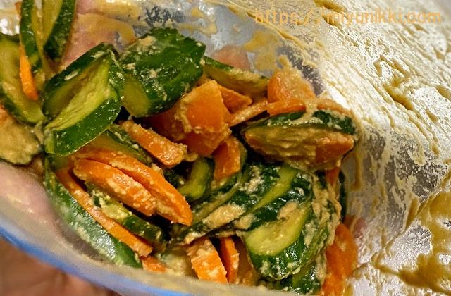 糠がついた状態のカット野菜