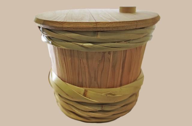 木製のぬか床容器・樽
